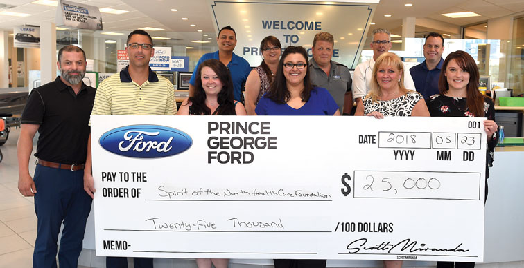 Ford Prince George Motors Donation!