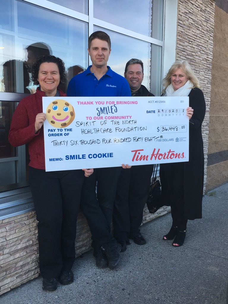 Local Tim Horton's is all Smiles after a successful Smile Cookie Campaign!