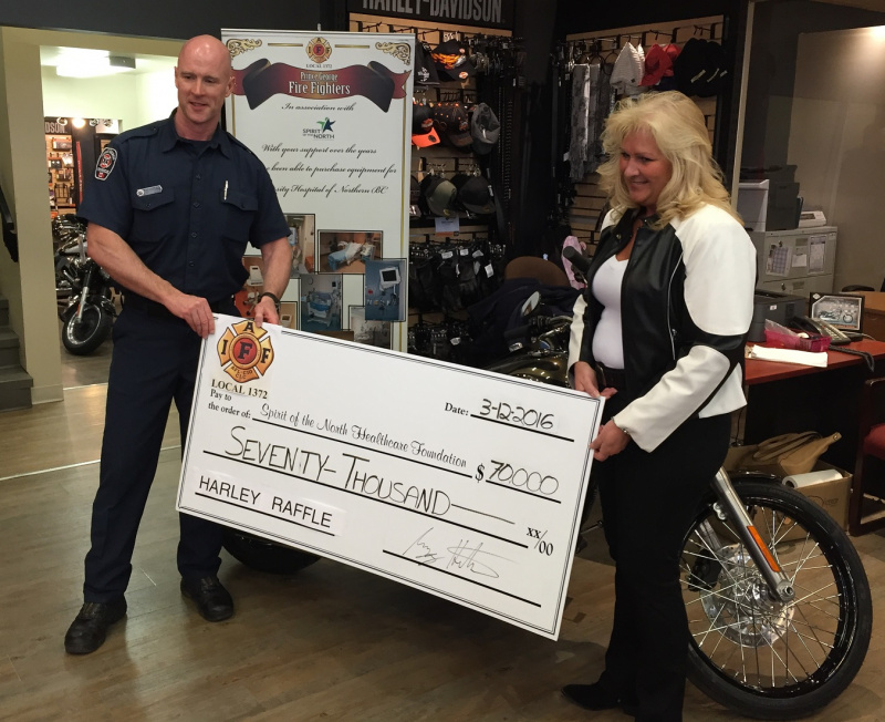 PG Firefighters Harley Davidson Raffle Sold Out Again!