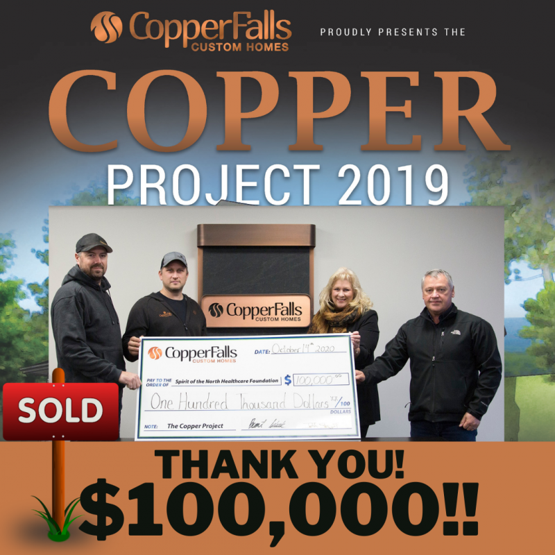 Copper Project 2019 Injects Major Cash Into Healthcare!